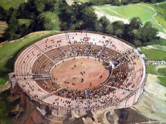 An artist impression of the Amphitheatre, Corinium Museum (Cirencester)