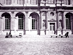 Basking in the Cour carrée