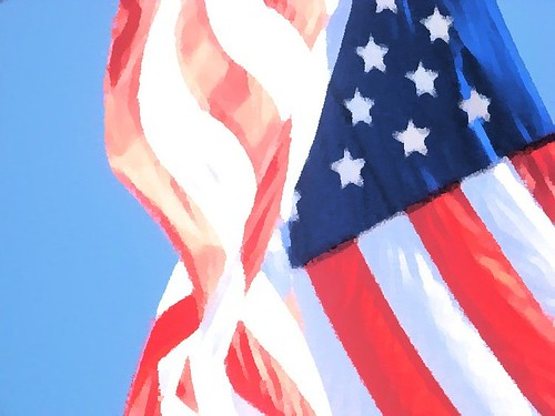 American Flag on the Fourth of July
