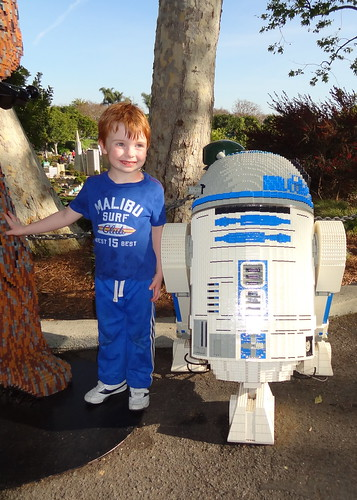 Henry with Lego R2-D2