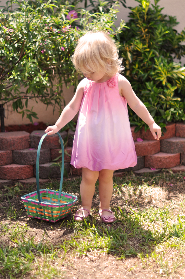 delilah on easter 2012 with basket
