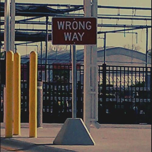 Ptw Wrong way