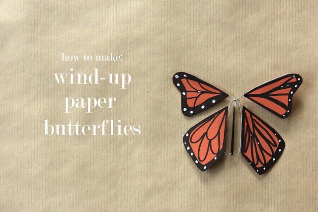 Quirky Artist Loft: Tutorial: Windup Paper Butterfly