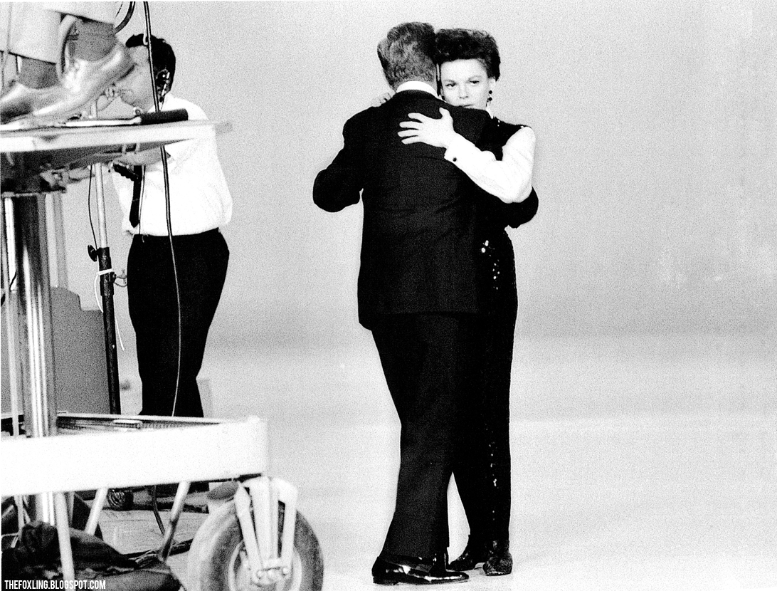 Judy Garland during filming