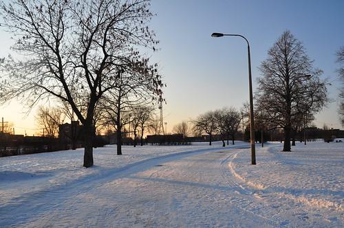 Parc Jarry en hiver