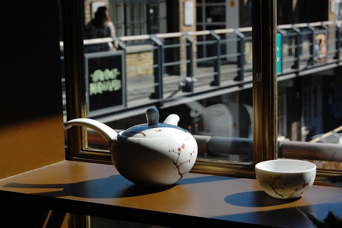 Teaware looking out on Kingly Court