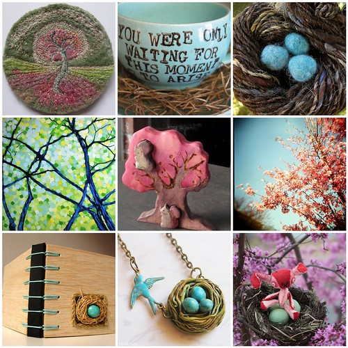 Friday Funspiration: Spring trees and nests