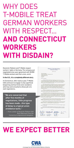 T-Mobile newspaper ad