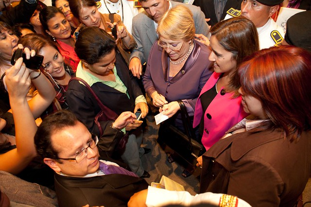 UN Women Executive Director Michelle Bachelet visits Ecuador