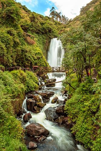 bridge verde green water landscape puente waterfall ecuador agua plantas paisaje piedras otavalo cascada imbabura peguche