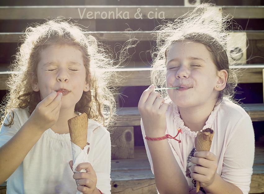 Disfrutando del helado