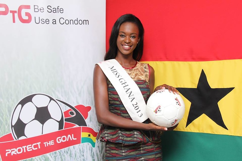 Miss Ghana 2013 Giuseppina Baafi signs up to 'Protect the Goal' campaign
