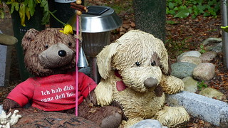 Bears on a child's grave