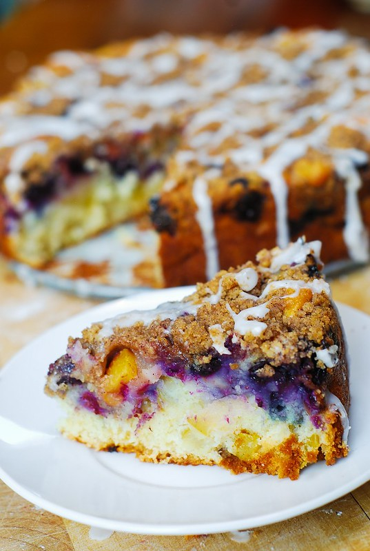 Best Peach Blueberry Coffee Cake