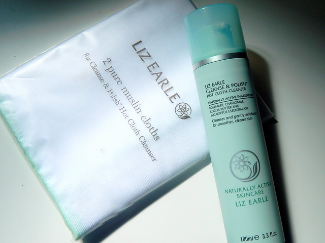 Liz Earle Cleanse and Polish and 2 muslin cloths