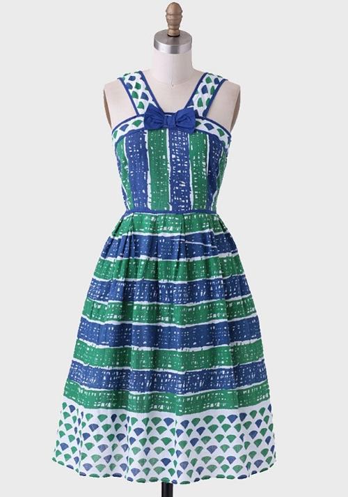 Ruche Paris Stripe Dress By Dear Creatures