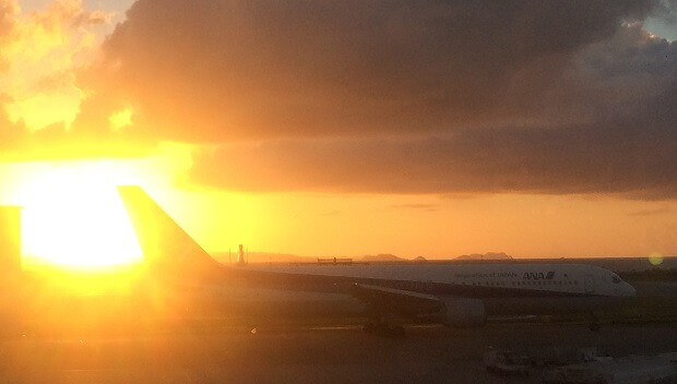 161009 那覇空港の夕日
