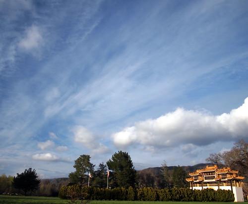 cloud bluesky ukiah talmage mendocinocounty cttb mountaingate cityoftenthousandbuddhas cityof10000buddhas