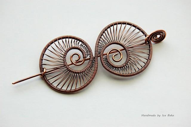 Nautilus shawl pin flickr photo sharing for Nautilus garden designs