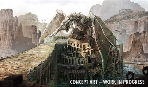 Sonic & All-Stars Racing Transformed Concept Art - Dragon Canyon (Panzer Dragoon)
