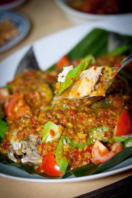 Steamed Pomfret with Nonya Sauce