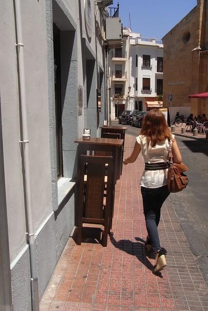 Veladores calle San Álvaro en Córdoba.