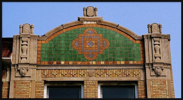 Roofline: Monticello Ballroom Building, 14421-29 East Jefferson Avenue--Detroit MI