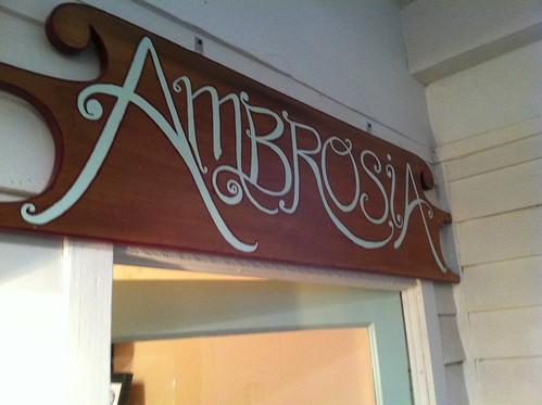 Ambrosia Choco 1 Sign