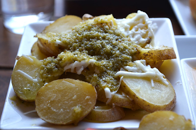 Potatoes, cheese, mojo verde, Fuerteventura