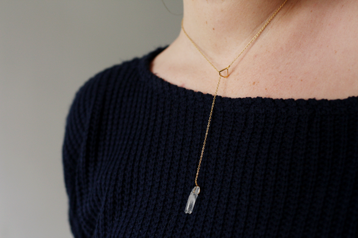 lobogato quartz necklace