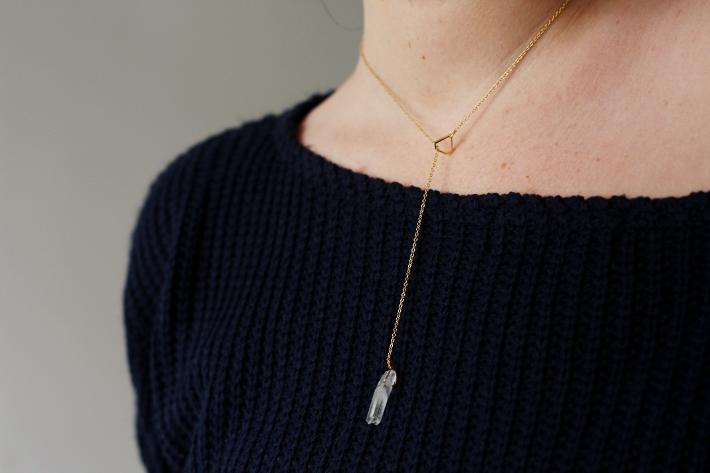 lobogato quartz necklace