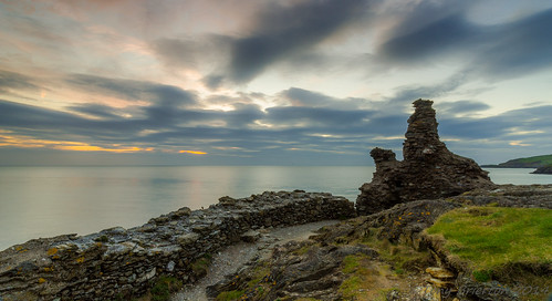 ireland castle sunrise coast harbour wicklow cowicklow blackcastle 9414 wicklowhd