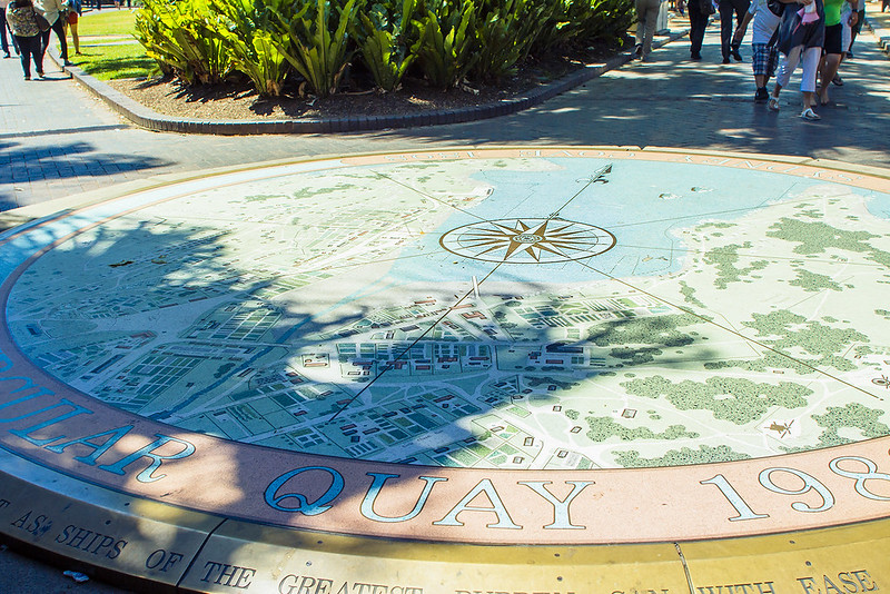 Circular Quay compass monument