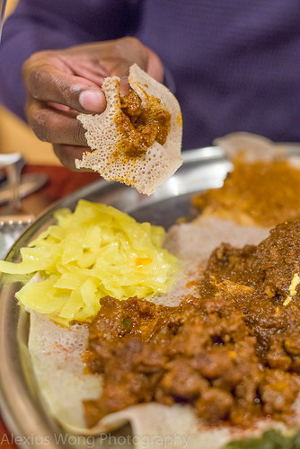 Eating Ethiopian