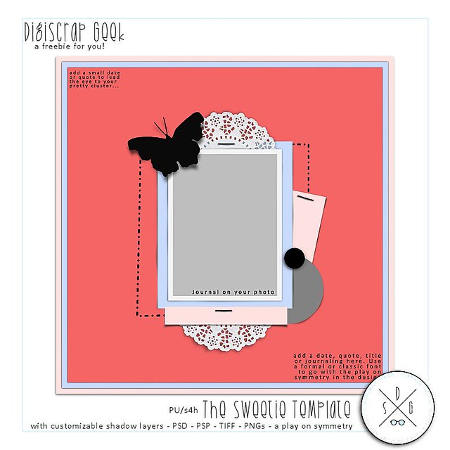 The Sweetie Template | Freebie from DigiScrap Geek