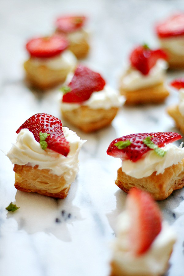 Strawberry Pastry Bites