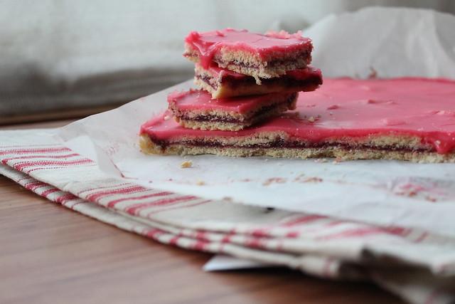 Raspberry Jam Slice