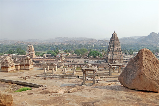 Vista del templo de Virupaksha. Hampi. India.