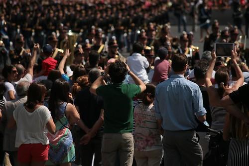 La folla di spettatori