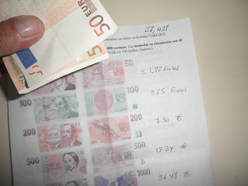 Cambiando moneda