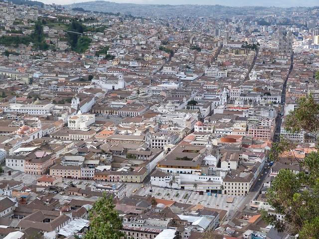 Vistas de Quito desde el mirador de El Panecillo