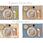 Singapore Chicken Rice Models 4 Styles