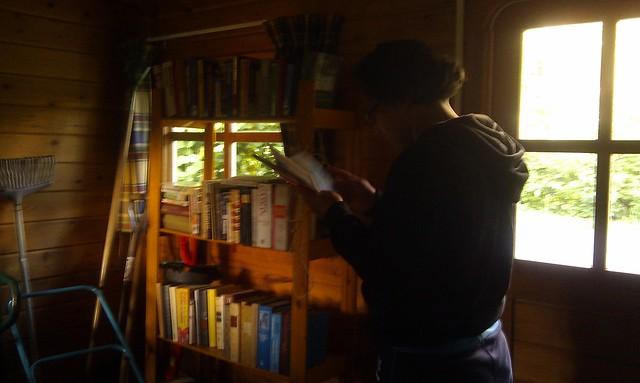 boekenleenhutje op Camping De Beekhoek, Ulvenhout