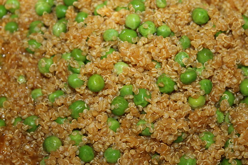Quinoa with peas and fresh mint