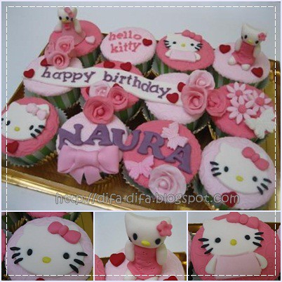 Cupcake Hello Kitty by DiFa Cakes