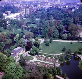 Netherlands   -  Rotterdam   -   Het Park from the Euromast   -  May 1970