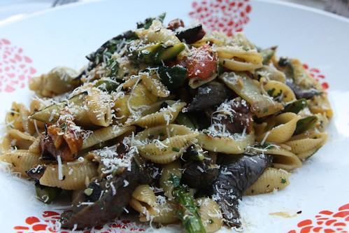 Spring Grilled Vegetable Conchiglie with Bella Lodi