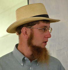 red amish beard