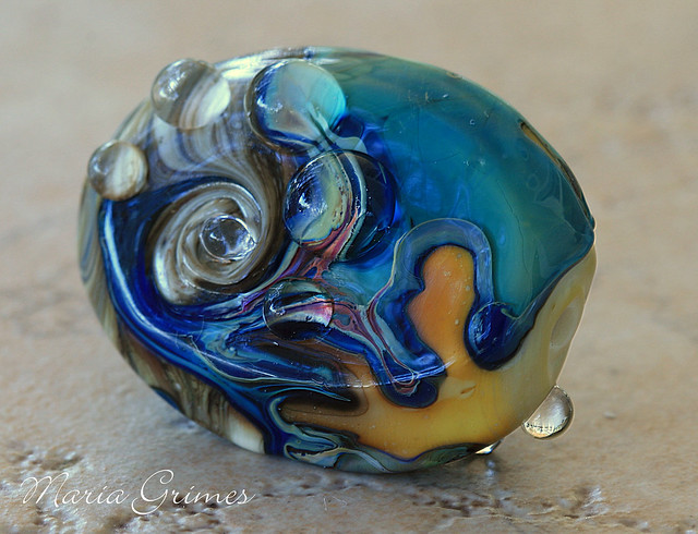 Fire and Ice Lampwork Bead