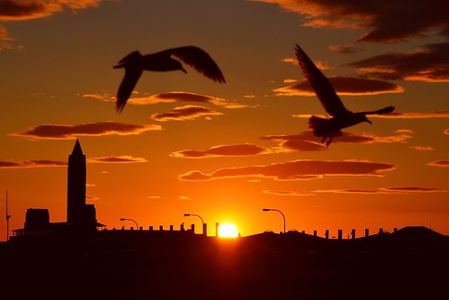 Sunset at Jones Beach.  Photo © KoolPix.